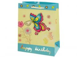 Wholesale Small Happy Birthday Giftbag 4 Styles Assorted