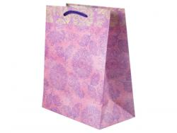 Wholesale Pink And Purple Flowers Medium Gift Bag