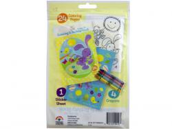 Wholesale Spring Into Easter 24 Page Coloring Pouch With Crayons And S