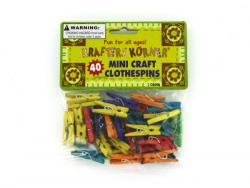 Wholesale Miniature Colored Craft Clothespins
