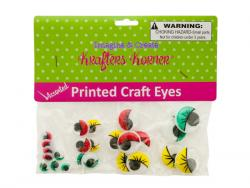 Wholesale Colored Wiggly Printed Craft Eyes