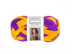 Wholesale Purple & Gold Team Spirit Sashay Yarn