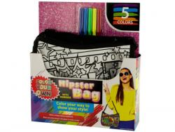 Wholesale Color Your Own Glitter Hipster Fashion Bag With Markers