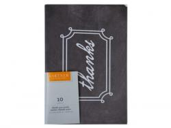 """Wholesale 10 Count Black & White """"Thanks"""" Cards And Envelope Set"""