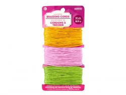 Wholesale Braiding Cords Yellow Pink And Green